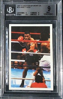 Mike Tyson ROOKIE (RC) card 1987 Question Of Sport BGS 9 MINT