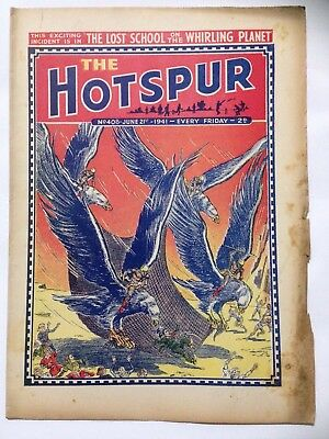 DC Thompson. THE HOTSPUR Wartime Comic. June 21st 1941 Issue 408.