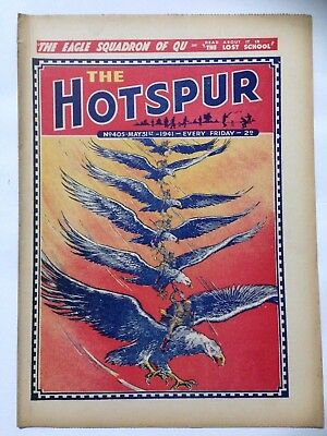 DC Thompson. THE HOTSPUR Wartime Comic. May 31st 1941 Issue 405