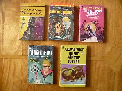 5 early A.E. van Vogt e.g. Away and Beyond, Quest For The Future, Universe Maker
