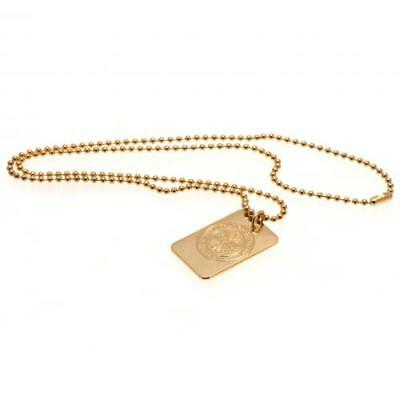 Official Football Celtic F.C. Gold Plated Dog Tag & Chain Xmas Gift