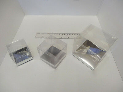 Presentation Box Clear Cup Cake Box Favour Box Acetate Box with Silver Base 10cm