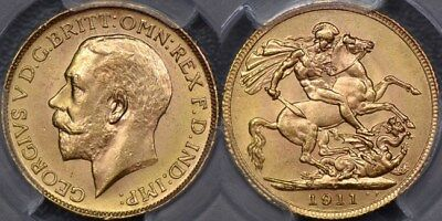 Canada, 1911 Ottawa Sovereign - PCGS MS64