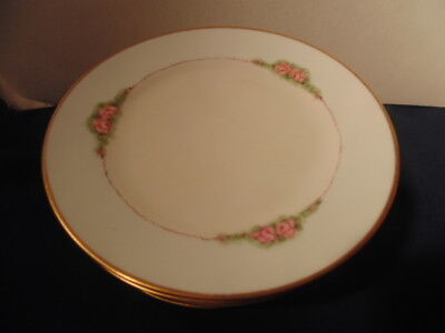 Antique Nippon China (1911)10 Luncheon Plates Blue Rising Sun Hand Painted.
