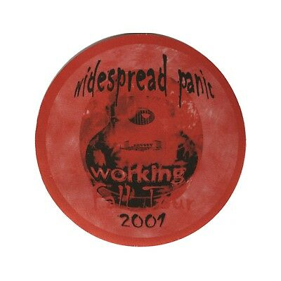 Widespread Panic authentic 2001 Fall tour satin Backstage Pass crew red