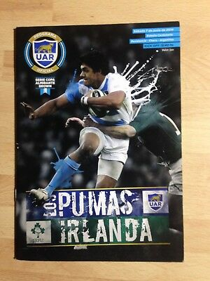 Argentina v Ireland rugby programmme, 1st 2014 Test in Chaco. 1st Test minus BOD
