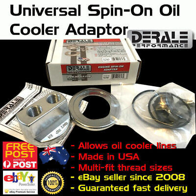New Universal Oil Filter Cooler Engine Adaptor Adapter Sandwich Plate Aluminium