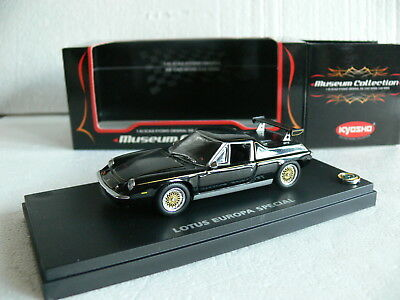 Kyosho 03076BK Lotus Europa Special with rear wing 1972 black 1:43 RARE