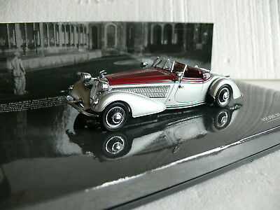 Minichamps 436 014200 Horch 855 Special Roadster 1938 1:43 RARE silver/red
