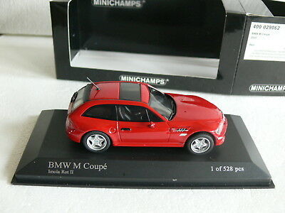 Minichamps BMW Z3 M Coupe 2002 in red 1:43 VERY RARE Ltd Ed 1 of 528 pcs