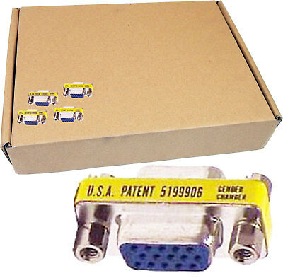 Lot-199 DB15 F/F 15-Pin VGA Gender Changer DB15FF-L199 GEN-VED