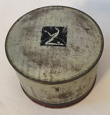 DECO designed Richard Hudnut MARVELOUS Dusting Powder painted tin