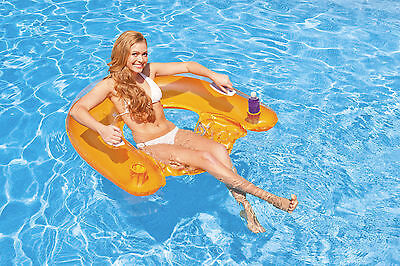 Genuine Intex Sit 'N Float Pool Lounge Inflatable Pool Chair Lounger