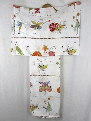 Ikea Hokus Music Fairies & Bugs BABY ROOM Duvet Cover & Pillow Sham 100% Cotton