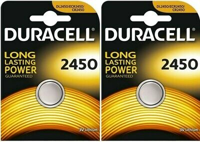 4x Duracell CR2450-C1 3V Lithium Coin Cell CR2450/DL2450 Batteries (4 Batteries)