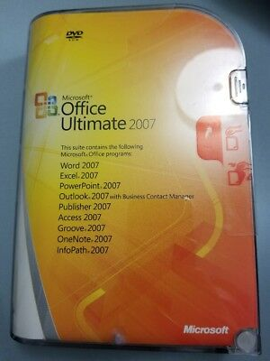 Microsoft Office Ultimate 2007 - BRAND NEW, Factory Sealed, Retail Version