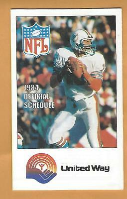 1984 NFL united Way schedule Dan Marino rookie rc football