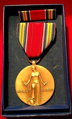 Victory Medal Freedom of Speech & Religion Campaign & Service World War 2