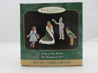 Hallmark Keepsake Ornament Wizard Of Oz KING OF THE FOREST Lion Tin Man Etc. NEW
