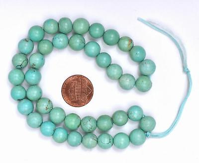 Vintage Chinese Turquoise Carved Carving Bead Necklace