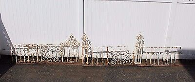 Antique Vintage Ornate Wrought Iron Fence - American circa 1900s 100% original