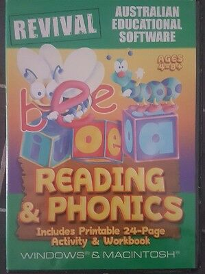 phonics and reading pc computer game kids educational 4-8 yrs