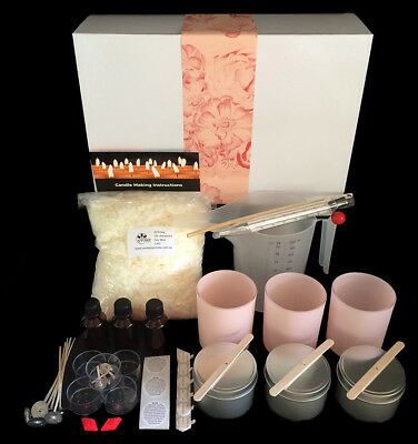Pretty in Pink Soy Candle Making Kit - Great Gift idea