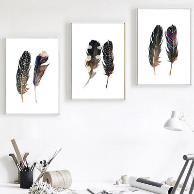 Minimalism Nordic Feather Canvas Wall Painting Art Print Poster Picture Fabulous