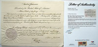 Andrew Johnson 17th U.S. President PSA/DNA Autograph Vice to Lincoln CIVIL WAR!