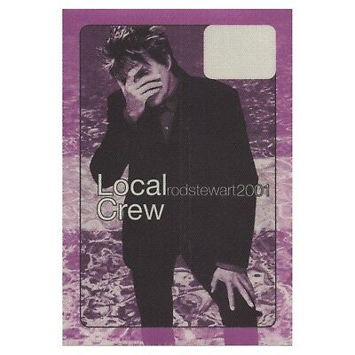 Rod Stewart authentic Local Crew 2001 tour Backstage Pass