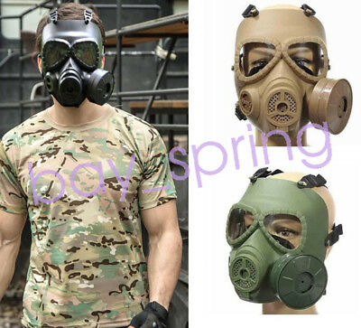 Outdoor Tactical Airsoft Wargame Paintball Gas Mask Protective Cosplay Mask
