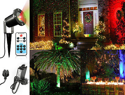 led laser licht projektor party lichteffekt wasserdicht weihnachten garten lampe eur 25 99. Black Bedroom Furniture Sets. Home Design Ideas