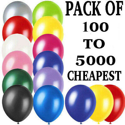 "WHOLESALE 10"" BALLOONS 5000 Latex BULK PRICE JOBLOT Quality Any Occasion BALLONS"