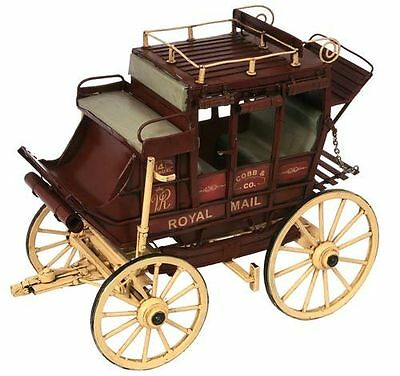 COBB & CO COACH,( ROYAL MAIL ) REPLICA MODEL,STEEL,HANDMADE&PAINTED 30 cm