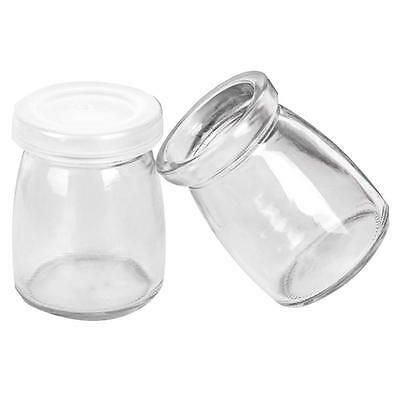 100ML Yogurt Milk Jelly Glass Bottle Pudding Cup High Temperature Resistant ☪V