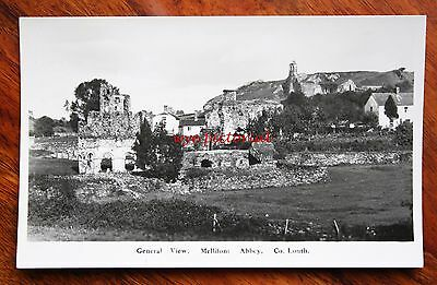 Vintage Photo Postcard Rp Ireland Co. Louth General View Mellifont Abbey Houses