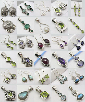 Wholesale! 15 Lovely 925 Silver Earrings Pendant Sets!