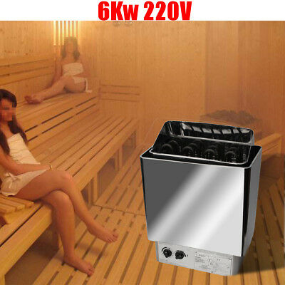 220V 6KW Sauna Heater Stove Wet 0~80℃ & Internal Control Dry Stainless Steel