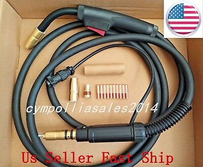 US SELLER  MIG WELDING GUN 15' 200A Millermatic,Ironman 250,replace Miller M25