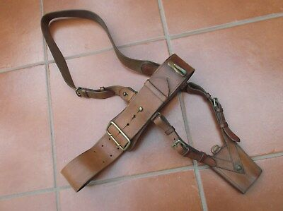 WW1 British Army Officer's Leather Sam Browne belt,cross strap and sword frog.