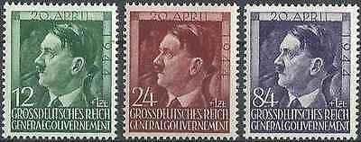 Timbres Personnages Occupation Allemande Pologne 128/30 ** lot 23227