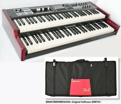 HAMMOND SK-2 Orgel pro Stage Piano_2x 61 Tasten Keyboard_LCD_BAG*_NEU_EINTAUSCH
