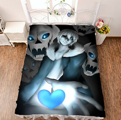 Mo Fiber Bed sheet Anime Undertale Blanket dormitory sheet 150*200cm #761