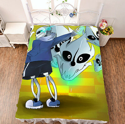 Bed sheet Anime Undertale Mo Fiber Blanket dormitory sheet 150*200cm #775