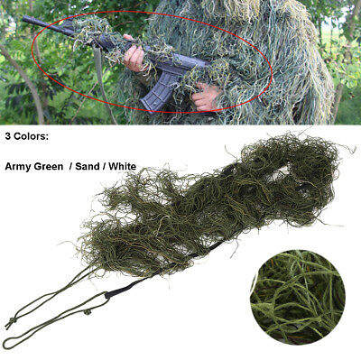 Rifle Gun Wrap Cover Forest Camouflage Ghillie Suit Sniper Paintball Hunting EB