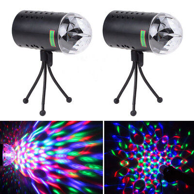 2 x  360° Laser Projector LED RGB DJ Disco Light Stage Lighting Show Xmas Party