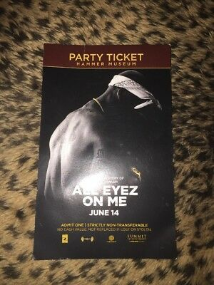 2017 Tupac All Eyez On Me Premier Afterparty Ticket