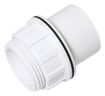 FLOPLAST 32mm to 21.5mm OVERFLOW INTERNAL REDUCER BOSS WHITE SOLVENT WASTE WELD