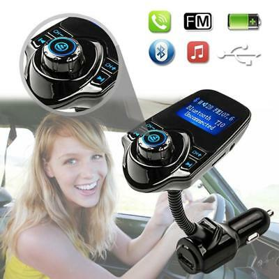 2017 Wireless Bluetooth Handsfree Car Kit FM Transmitter MP3 USB LCD TF Card US
