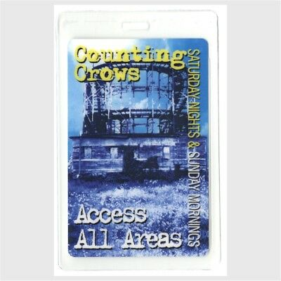 Counting Crows authentic 2008 Laminated Backstage Pass Saturday Nights Tour rare
